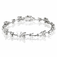 Diamond 18K White Gold Bracelet L1427. Diamond 18K White Bracelet L1427, Diamond Bracelets. Bracelets. Top Diamonds & Jewelry
