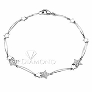Diamond 18K White Gold  Bracelet L1428. Diamond 18K White Bracelet L1428, Diamond Bracelets. Bracelets. Top Diamonds & Jewelry