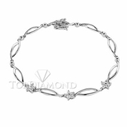 Diamond 18K White Gold Bracelet L1437. Diamond 18K White Bracelet L1437, Diamond Bracelets. Bracelets. Top Diamonds & Jewelry