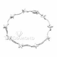 Diamond 18K White Gold Bracelet L1444. Diamond 18K White Bracelet L1444, Diamond Bracelets. Bracelets. Top Diamonds & Jewelry