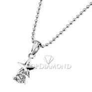18K White Gold Diamond Pendant P2290. 18K White Gold Diamond Pendant P2290, Diamond Pendants. Necklaces & Pendants. Hung Phat Diamonds & Jewelry