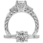 Ritani Bella Vita Engagement Ring Setting – 1R4186CTBRWG-$500 GIFT CARD INCLUDED WITH PURCHASE. Ritani Engagement Ring Setting 1R4186CTBRWG-$500 GIFT CARD INCLUDED WITH PURCHASE, Engagement Rings. Ritani. Hung Phat Diamonds & Jewelry