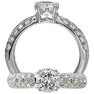 Ritani Bella Vita Engagement Ring Setting – 1R1022BR-$300 GIFT CARD INCLUDED WITH PURCHASE. Ritani Engagement Ring Setting 1R1022BR-$300 GIFT CARD INCLUDED WITH PURCHASE, Engagement Rings. Ritani. Hung Phat Diamonds & Jewelry