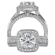 Ritani Bella Vita Engagement Ring Setting – 1R3156GR-$1000 GIFT CARD INCLUDED WITH PURCHASE. Ritani Engagement Ring Setting 1R3156GR-$1000 GIFT CARD INCLUDED WITH PURCHASE, Engagement Rings. Ritani. Hung Phat Diamonds & Jewelry